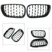 Front Kidney Grille Grill Diamond Mesh L And R Chrome Fit Bmw E46 4 Door 2002-2005