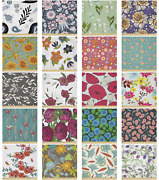 Ambesonne Floral Pastel Microfiber Fabric By The Yard For Arts And Crafts