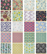 Ambesonne Floral Leaves Microfiber Fabric By The Yard For Arts And Crafts