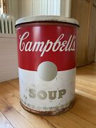 Vintage Rare Large Campbell's Soup Tin Can Sign Advertisement Store Display 1966