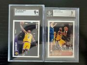 1996-97 Topps 138 And Col. Choice 267 Kobe Bryant Rookie Cards Bgs And Sgc 9