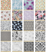 Ambesonne Floral Folk Microfiber Fabric By The Yard For Arts And Crafts