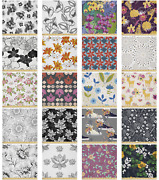 Ambesonne Floral Flourish Microfiber Fabric By The Yard For Arts And Crafts