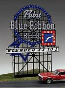 Miller Engineering Ho/o Scale Pabst Blue Ribbon Lighted Billboard New 4081