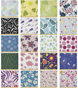Ambesonne Floral Bloom Microfiber Fabric By The Yard For Arts And Crafts