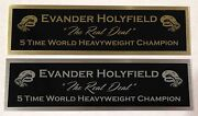 Evander Holyfield Nameplate For Signed Trunks Glove Photo Display Case