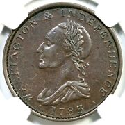 1783 B-5 Ngc Xf 40 Button Draped Bust Washington And Independence Colonial Coin