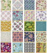 Ambesonne Soft Floral Microfiber Fabric By The Yard For Arts And Crafts
