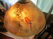 Rare Pairpoint  Lamp With Love Birds Shade
