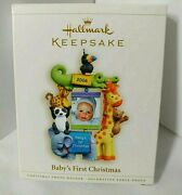 Hallmark 2006 Baby's First Christmas Ornament Photo Frame New 14 15 Year Old