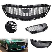 Black Car Front Grille Grill For 2018 2019 2020 Cadillac Xts Sedan Abs Plastic