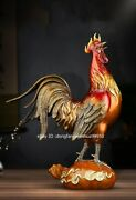 Copper Bronze Brass Feng Shui Chinese Zodiac Chicken Rooster Chook Crowing Cock