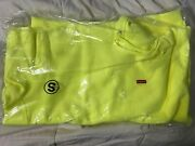 Ships Same Day Supreme Small Box Logo Hoodie Ss21 Yellow Size Small Sold Out