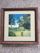 Vintage Print -1915- Maxfield Parrish -the Stong-based Promontory - The Tempest