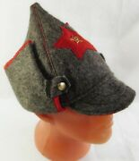 Russian Red Army Hat Old Style Wool Budenovka Ussr Metal Badge Great Quality New