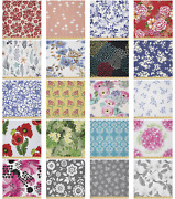 Ambesonne Floral Retro Microfiber Fabric By The Yard For Arts And Crafts