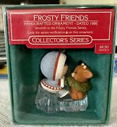 Hallmark Ornament Frosty Friends - 7 In The Series - Dated 1986 - New In Box