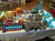 Thomas The Train And Friends Railroad Tracks And Buildings And Signs Etc. Huge Lot