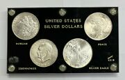 Morgan Ike Peace Silver Eagle United States Silver Dollars 4 Coin Set