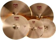 Paiste 2002 Cymbal Set - 14/20/22 Inch- With Free 18 Inch Crash 106bs18