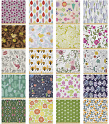 Ambesonne Graphic Floral Microfiber Fabric By The Yard For Arts And Crafts