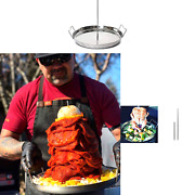 Trompo King Stainless Vertical Skewer For Barbecue Grill, Great For Tacos Al ...
