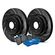 For Volvo S60 04-07 Ebc Stage 6 Track Day Dimpled And Slotted Rear Brake Kit