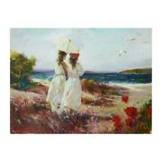 Pino Sister Hand Embellished Signed On Canvas Italian-american Artist