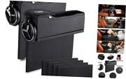 Car Console Seat Side Coin Holder Cup Holder Storage Organizer -driver And