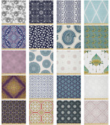 Ambesonne Orient Print Microfiber Fabric By The Yard For Arts And Crafts