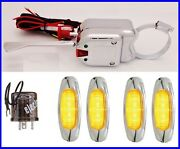 12 Volt Steering Column Turn Signal Switch Kit With 4 Amber Led Lights Misc