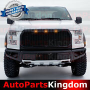 Led+grille+fender Flare+front Bumper Combo For 15-17 Ford F150 2017 Raptor Style