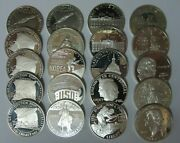 Roll Of 20 U.s. Mint Silver Proof Commemorative Silver Dollars -13 Diff. Types