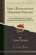 Vers Land039emancipation Premiere Periode History Book Aus Stock