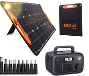 ⚡ Tacklife Solar Generator Electrical Power Supply With 100w Solar Panel