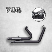 Black Exhaust Fit For Harley 2006-17 Dyna Fxdf C W G Wide Glide M Moving Star