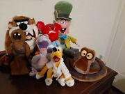 7 Disney And Wb Plush Kaa Pluto Figment Jawa Mickey Mad Hatter Tazmanian Devil