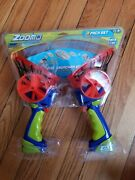Zoom-o Flying Disc Launcher W/ Catch Net 2-pack | Catch And Shoot Plastic
