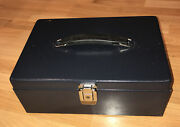 Vintage Metal Cash Carry Box With Plastic Money Tray And Handle No Key