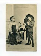 1918 Postcard Les Petits Photographers Children Using Camera Message In French
