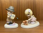 Precious Moments - Pair Of Chapel Event Exclusive Figurines Rare