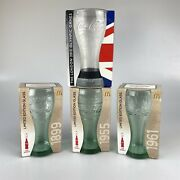 4x Mcdonalds Coca Cola Limited Edition Glasses 1899, 1955, 1961 And 2012 Olympic