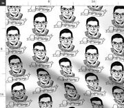 Supreme Ruth Bader Ginsburg Political Black Fabric Printed By Spoonflower Bty