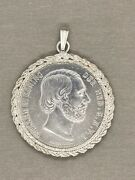 1874 William Iii Netherlands 2 1/2 Guilden Silver Coin .945 Silver W/ Coin Frame