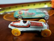 Vintage Tin Race Cars Racers Tiger 5 Japan 9 Made In West Germany Tin Toy Lot .