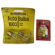 Westinghouse Auto Trunk Dome Bulbs 1003 Vintage With Bulb Grease