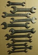 11 Vintage Metric Open Wrench Ford Din 895 Hayco Honda England W. German