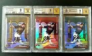 02 Joe Mauer Bowmanand039s Best Gold Red Blue 3-card Rc Lot All Bgs 9 Mint W/10 Auto