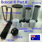 Filter Service Kit Fits Bobcat S630 S650 T630 T650 Engine Hydraulic Air Oil Fuel