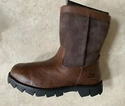 New Ugg Australia Beacon Leather Obsidian Brown Men's Boots 5485-obs Size 7